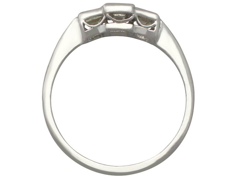 1940s Diamond and White Gold Trilogy Ring 5