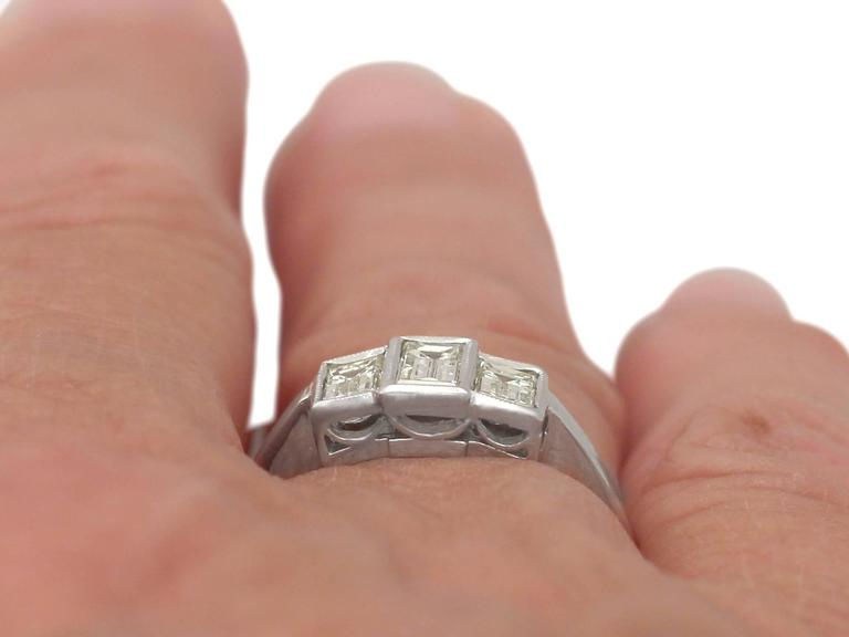 1940s Diamond and White Gold Trilogy Ring 9