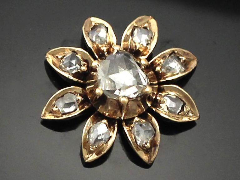 0.49Ct Diamond and Onyx, 14k Yellow Gold Pendant/Locket - Antique Victorian 3