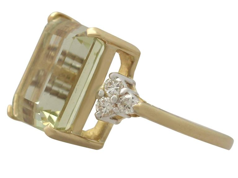 7.84 Carat Citrine and Diamond Yellow Gold Cocktail Ring 4