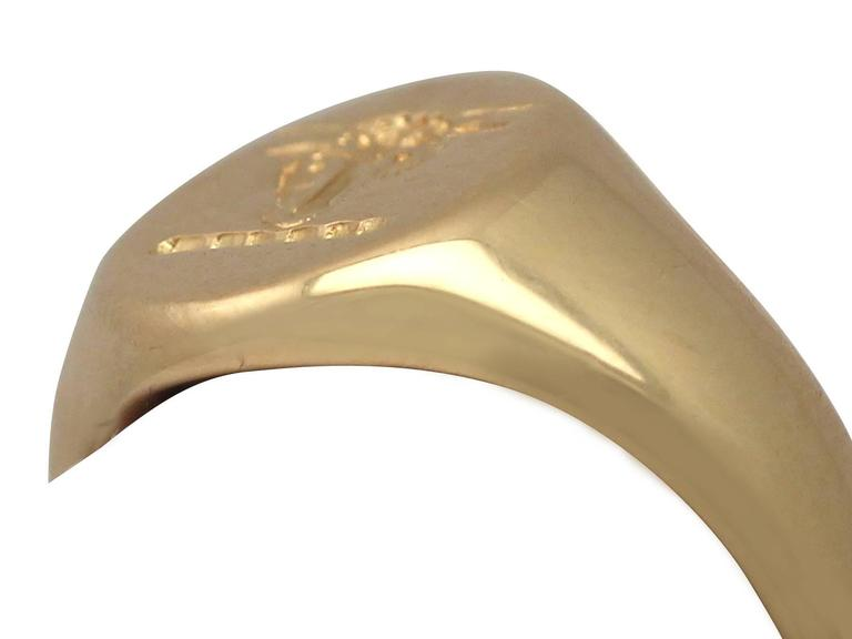 1920s 18 k Yellow Gold Signet Ring  3