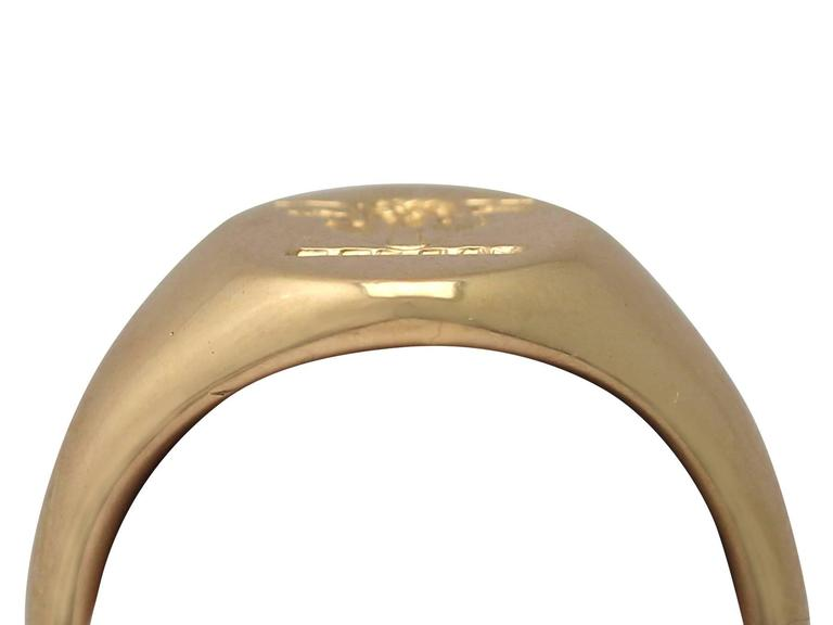 1920s 18 k Yellow Gold Signet Ring  4
