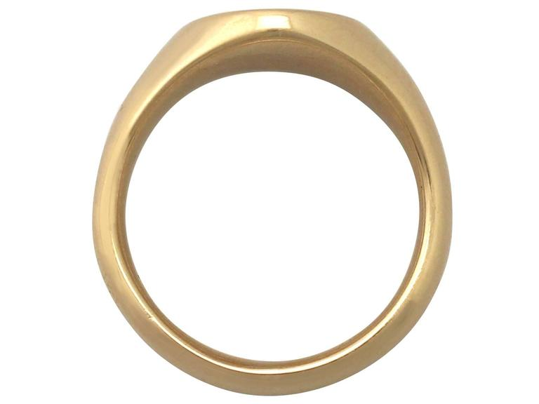 1920s 18 k Yellow Gold Signet Ring  5