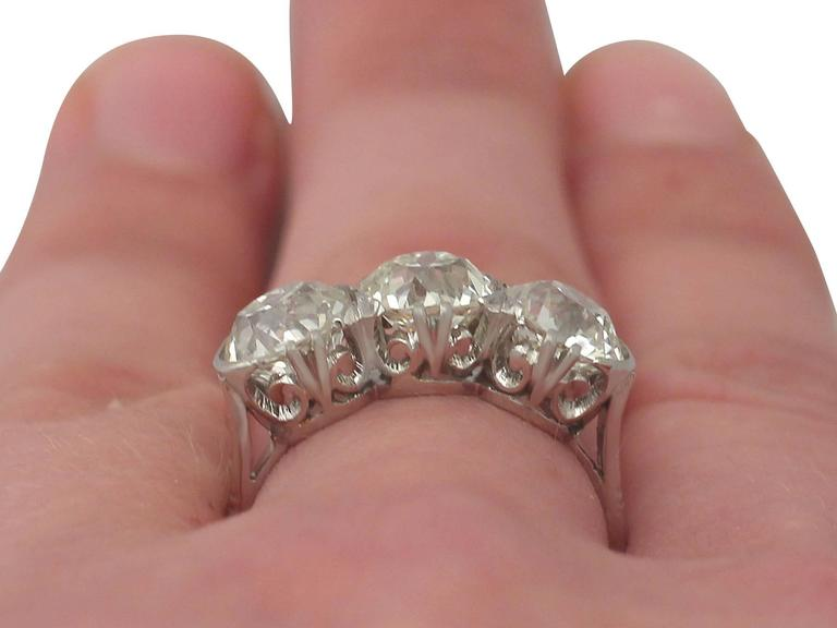 Antique 4 81 Carat Diamond Gold Trilogy Ring For Sale At