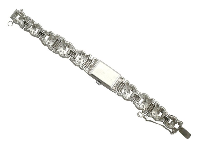 Bucherer Ladies Platinum Diamond manual wind Cocktail