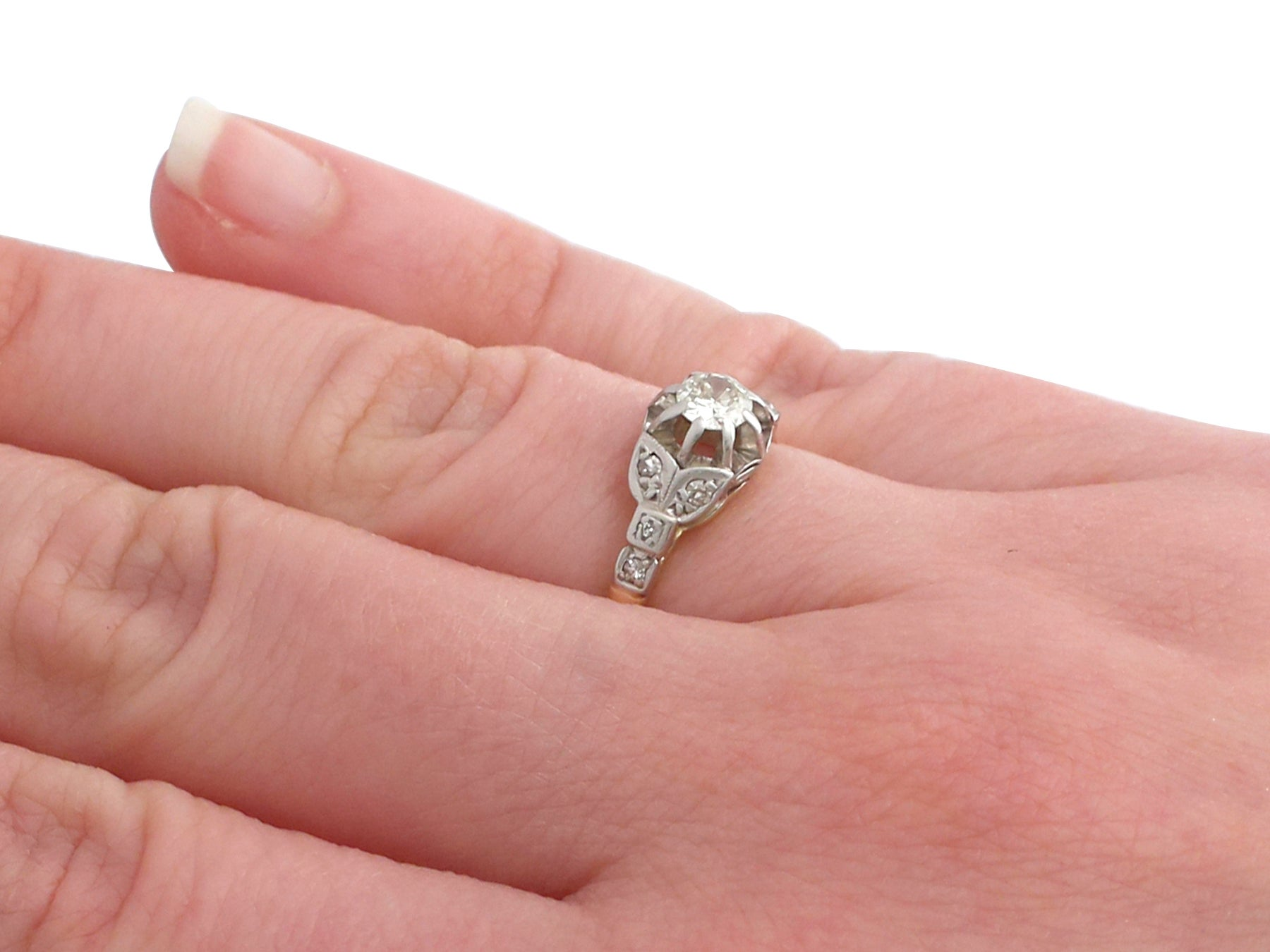 1920s 0.35 Carat Diamond 18 Karat Yellow Gold Solitaire Engagement ...
