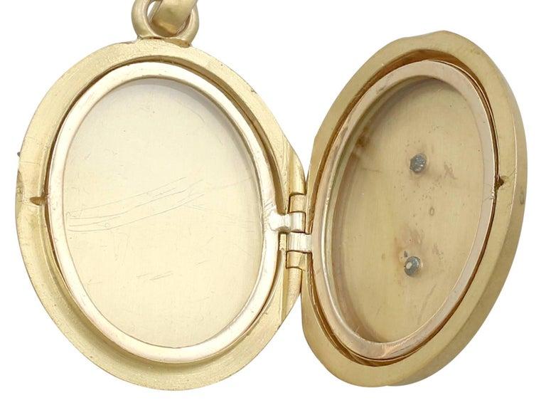 Victorian Blue Enamel Yellow Gold Locket 6