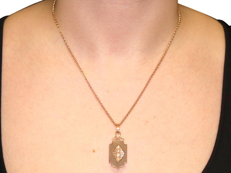 Antique Victorian Seed Pearl And Rose Gold Locket For 5