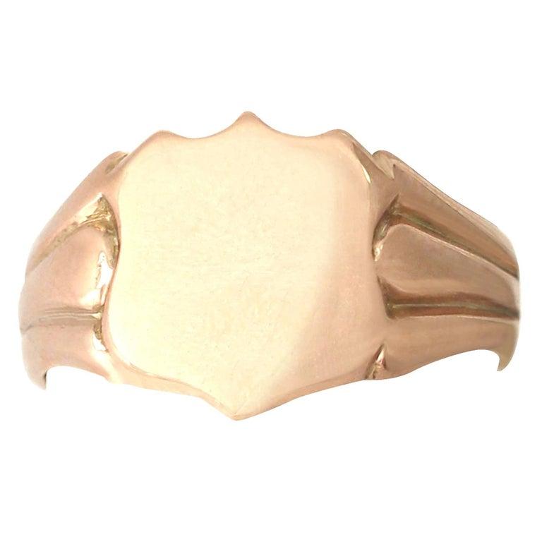 Antique Gold Gentleman's Signet Ring