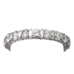 1960s French 1.80 Carat Diamond and Gold Eternity Ring