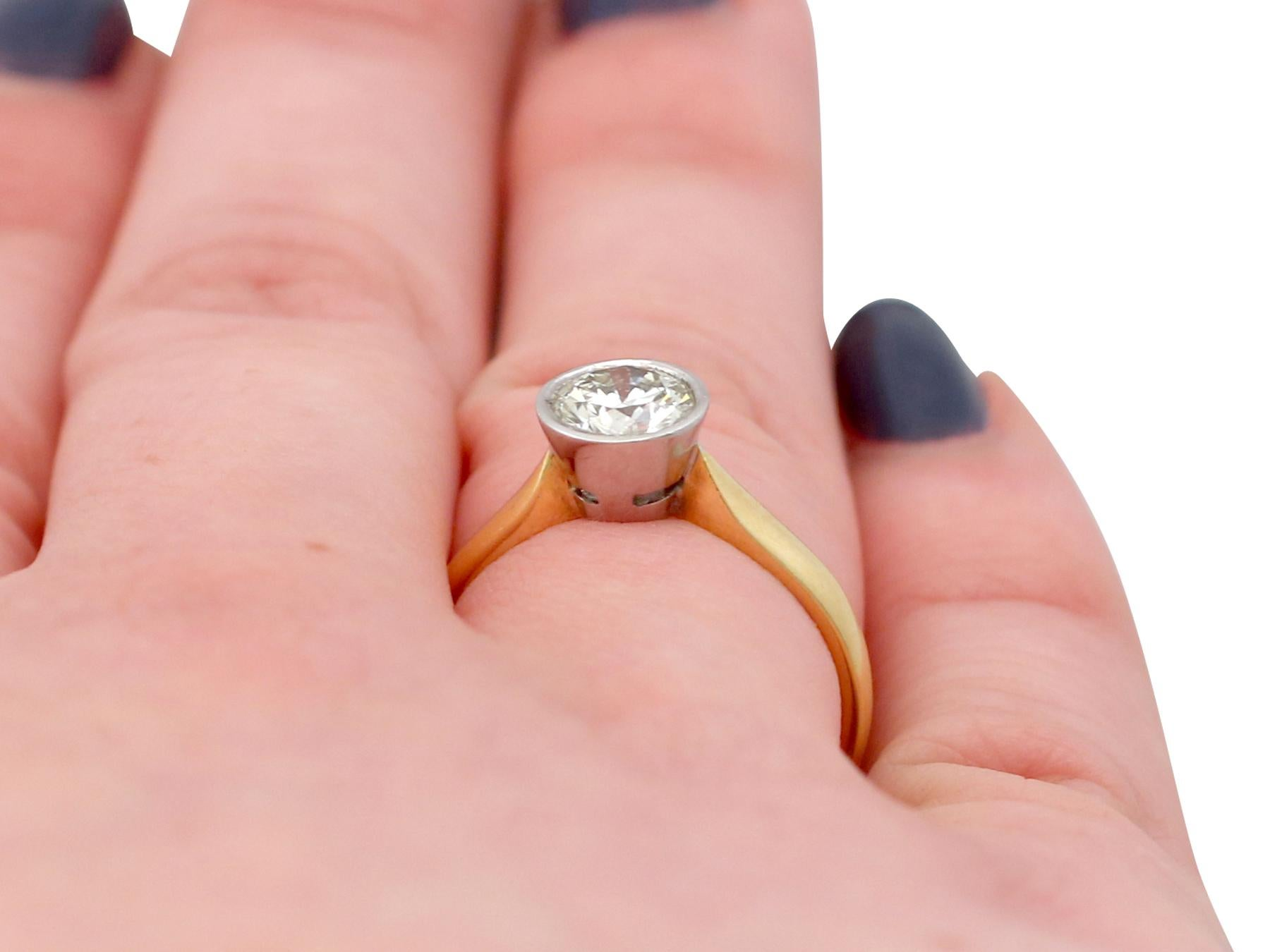 1.28 Carat Diamond and Yellow Gold Solitaire Engagement Ring For ...