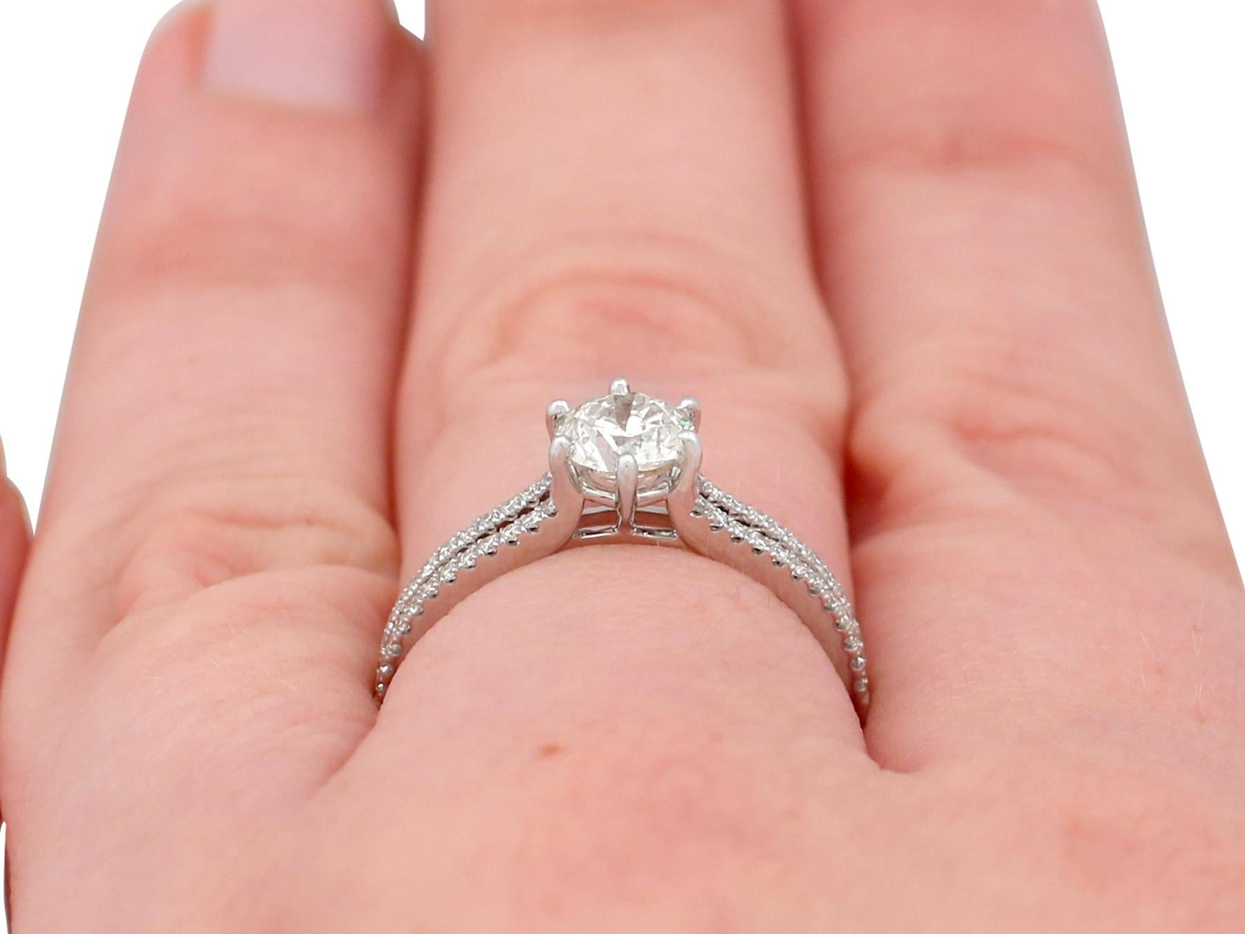0.76 Carat Diamond White Gold Solitaire Engagement Ring For Sale at ...