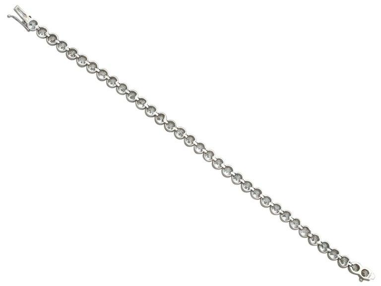 10.01 Carat Diamond White Gold Tennis Bracelet 2