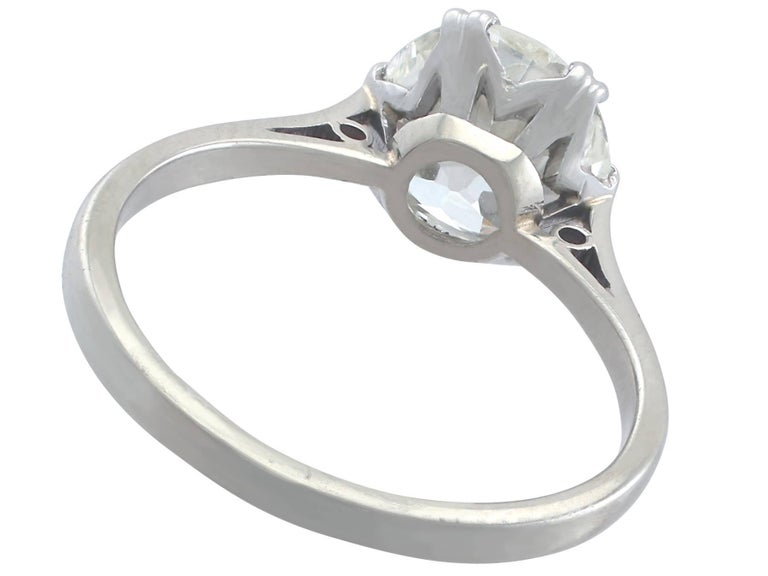 Women's 1910s 2.31 Carat Diamond and Platinum Solitaire Ring For Sale