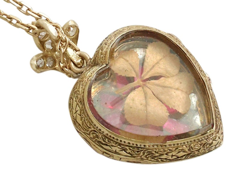 1880s Synthetic Ruby 4.55 Carats Diamonds Gold Pendant Locket For Sale 1