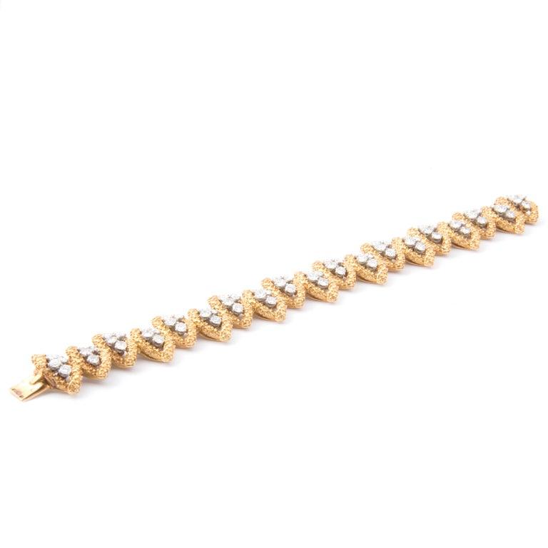 Women's Boucheron 18k Yellow Gold and Diamond Bracelet For Sale