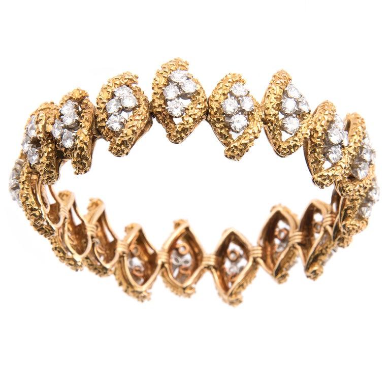 Boucheron 18k Yellow Gold and Diamond Bracelet For Sale 2