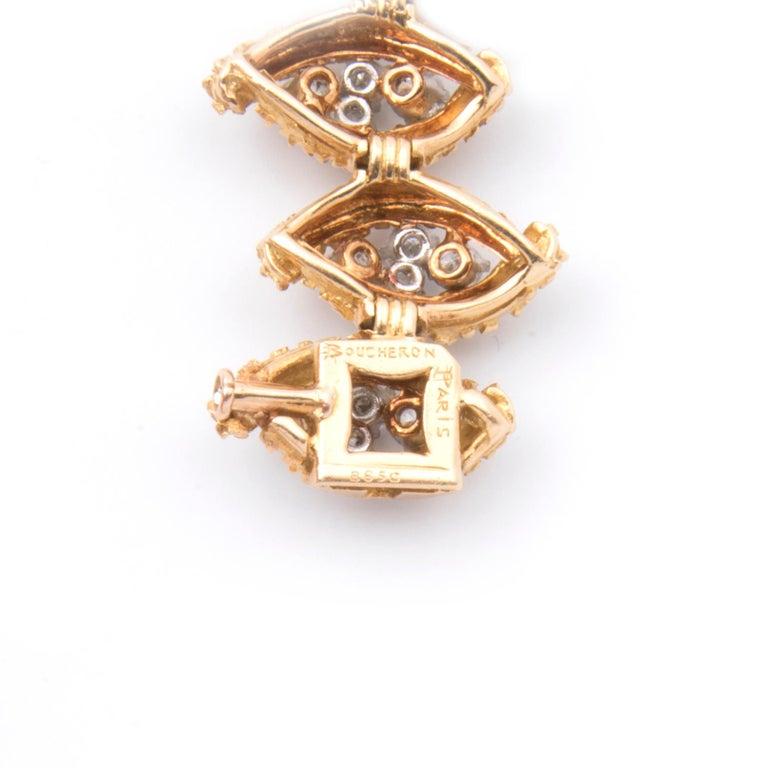 Boucheron 18k Yellow Gold and Diamond Bracelet For Sale 3