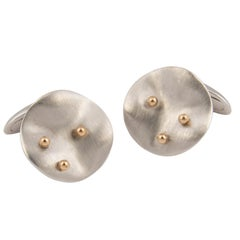 Florence Larochas 18 Karat White and Yellow Gold Cufflinks, Unique