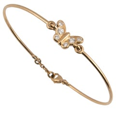 Florence Larochas 18 Karat Gold and Diamond Butterfly Bracelet