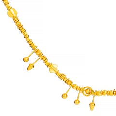 24 Karat Pure Gold Completely Handcrafted Trojan Necklace from Priam's Treasure
