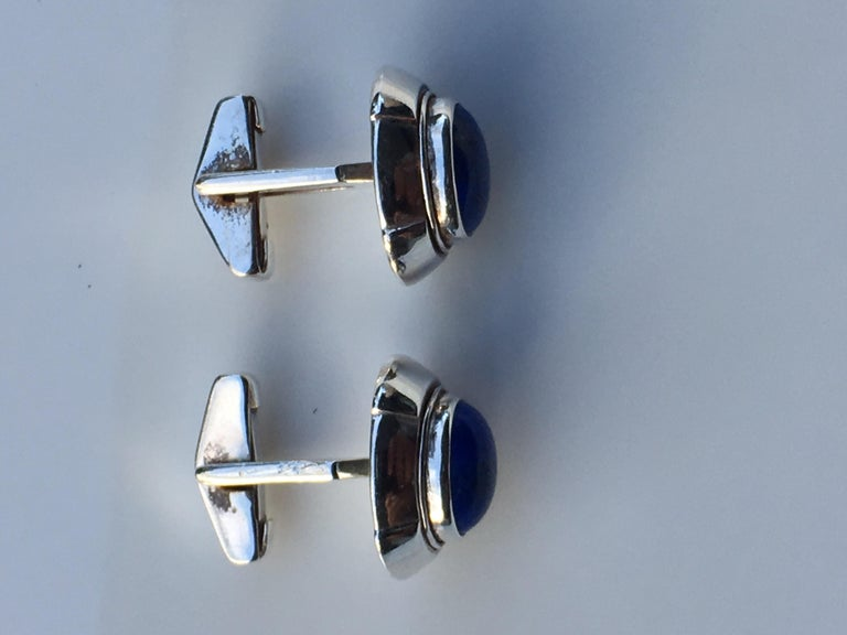Lapis Cufflinks In New Condition For Sale In Trumbull, CT