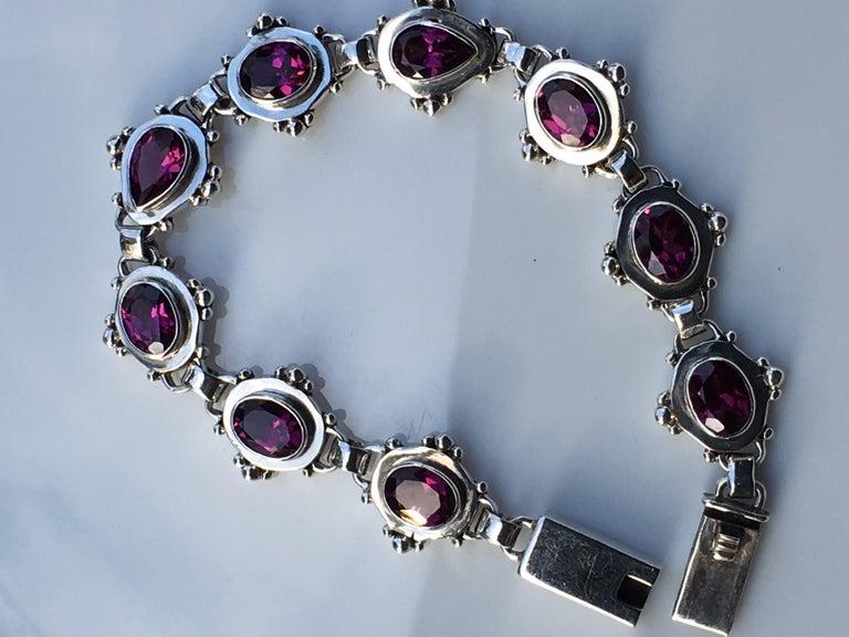 Women's Garnet Bracelet For Sale
