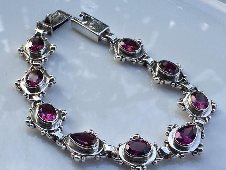 Garnet Bracelet For Sale 1