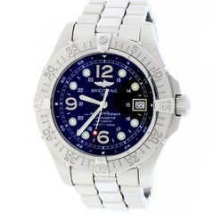 Certified Breitling Superocean A17360 with Band and Blue Dial