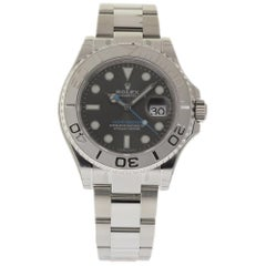 Rolex Yacht-Master 116622 with Band, Platinum Bezel and Silver Dial