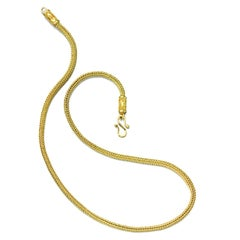 22 Karat Gold Necklace Chain Yellow Gold