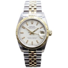 Rolex Datejust Midsize 68273 18 Karat Yellow Gold and Steel Mint Condition