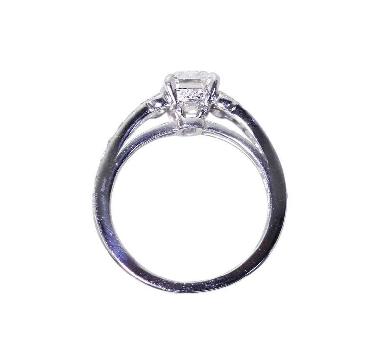Cartier 1.55 Carat GIA Cert Diamond Platinum Engagement Ring 5