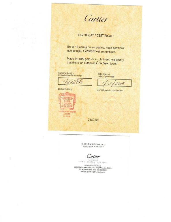 Cartier 1.55 Carat GIA Cert Diamond Platinum Engagement Ring 9