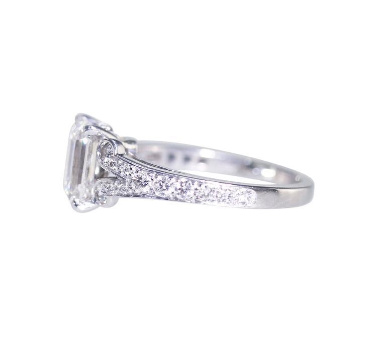Cartier 1.55 Carat GIA Cert Diamond Platinum Engagement Ring 3