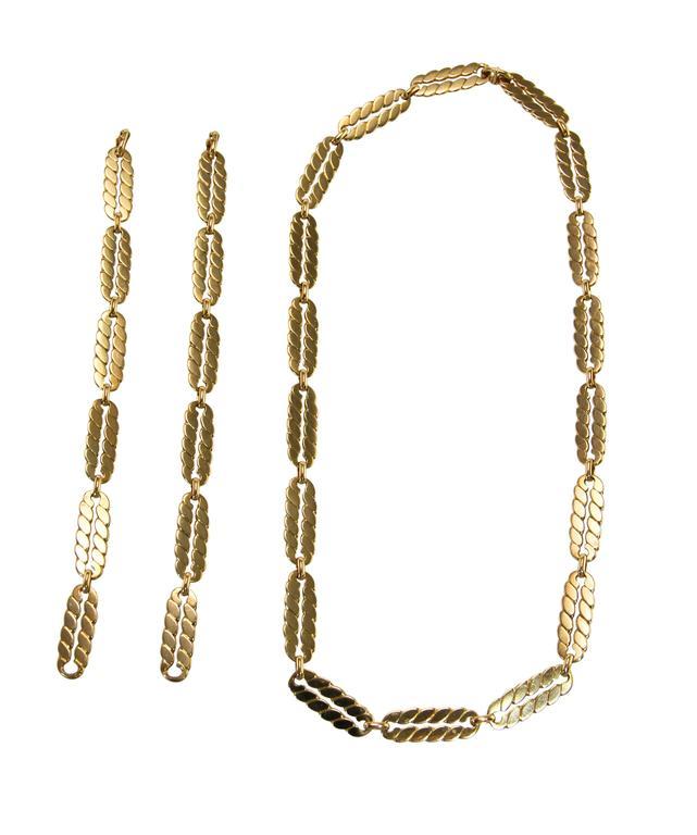 M. Gerard Gold Link Necklace Bracelet Combination 4