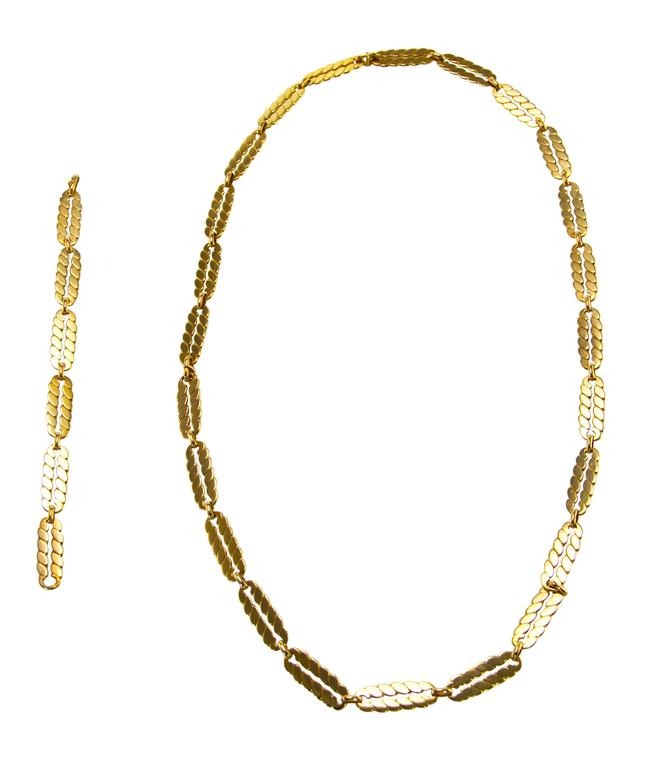 M. Gerard Gold Link Necklace Bracelet Combination 3
