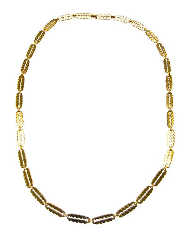 M. Gerard Gold Link Necklace Bracelet Combination 2