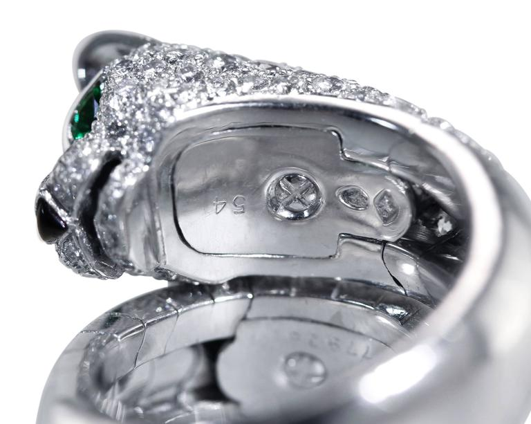 Cartier Diamond Emerald  Onyx 'Panthère' Ring 7