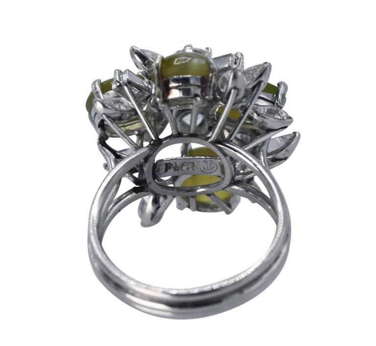 Women's or Men's Cat's-Eye Chrysoberyl and Diamond Ring For Sale