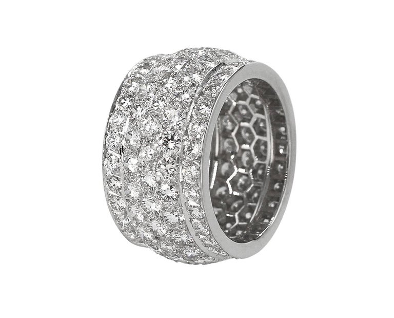 """Cartier Diamond and White Gold """"Nigeria"""" Band Ring 2"""