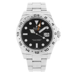 Rolex Explorer II 216570 Black Dial GMT 2010 Stainless Steel Automatic Men Watch