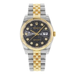 Rolex Datejust 116233BKJDJ 18 Karat Yellow Gold and Steel Automatic Men's Watch