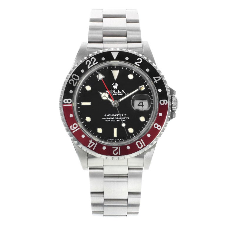 Rolex GMT-Master II 16710 Black Dial 1991 Steel Automatic Men's Watch
