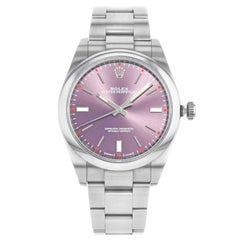 Rolex Oyster Perpetual 114300 Grape Dial 2016 Card Steel Automatic Men's Watch