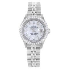 Rolex Datejust 69160 Custom Diamond White MOP Dial and Bezel Automatic Watch