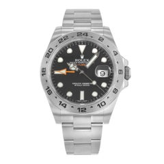 Rolex Explorer II 216570 Bk Black Dial GMT Steel Automatic Men's Watch