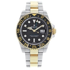 Rolex GMT-Master II 116713 Two-Tone Black Steel 18 Karat Gold Men's Watch