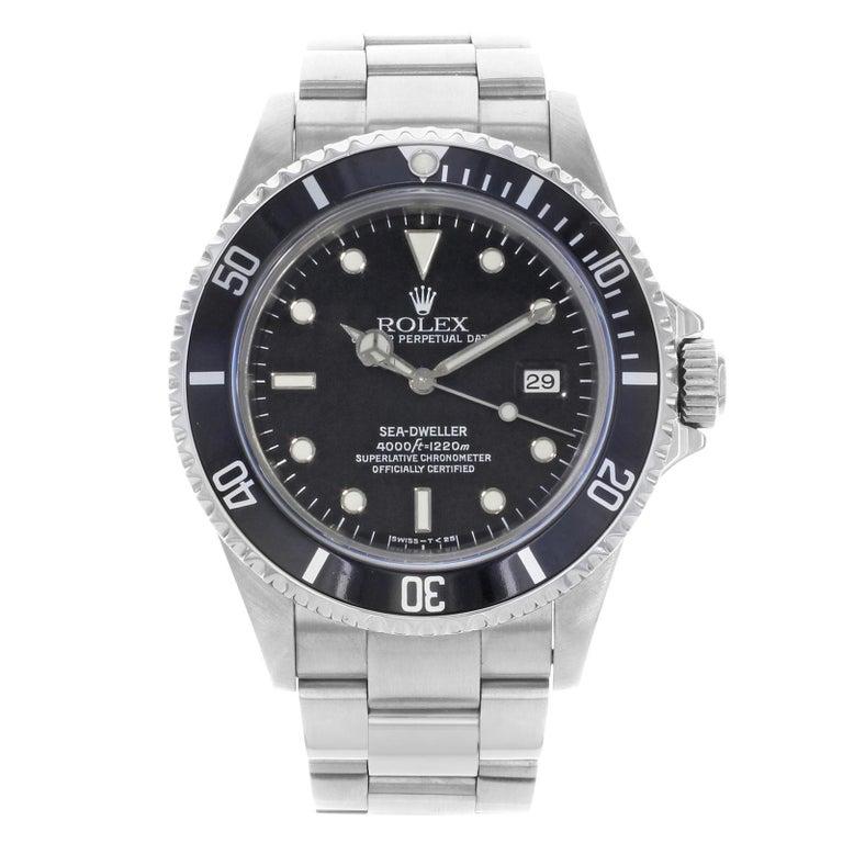 Rolex Sea-Dweller 16600 Black Dial 1995 Holes Steel Automatic Men's Watch