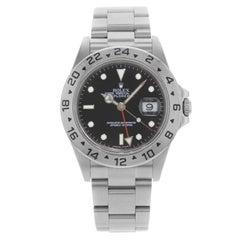 Rolex Explorer II 16570T Black Dial GMT 2000 Holes Steel Automatic Men's Watch